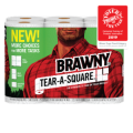 Save $1.50 off any ONE (1) package of Brawny® Tear-A-Square® paper towels, 6 Roll