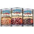 Save $1.00 off 3 cans of Kuner's Beans, 15oz, 30oz, or 40oz, any variety