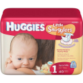 Save $1.50 off ONE (1) package of HUGGIES® Little Snugglers Diapers (offer value may vary)